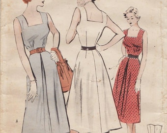 Butterick 5331 / Vintage 50s Sewing Pattern / Dress Sundress / Size 16 Bust 34