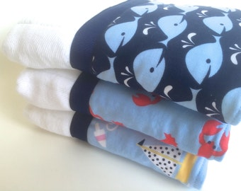Personalized burp cloths, baby burp cloth,whales, baby, lobsters, baby gift
