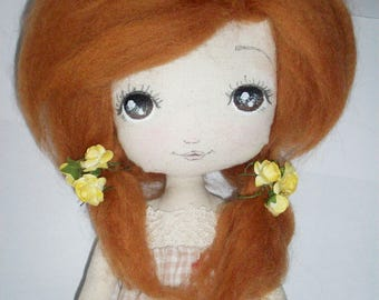 cloth doll, collectible doll, nursery decor