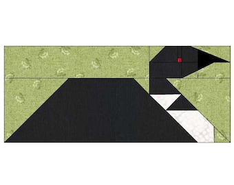 Loon Quilt Block Pattern, PDF, Instant Download, modern patchwork, bird, animal, cute