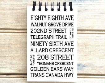 Walnut Grove Langley B.C. - Love This Place - Street Name Notebook - Busroll Notepad Journal Custom Gift B.C. - Vancouver Canada