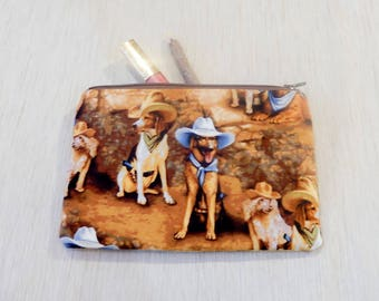 Pencil Case/ Make Up Bag/ Dog Lover Gift/ Gift for Mom/ Valentines Day Gift/ Gift for Wife/ Coworker Gift/ BFF Gift/ Girlfriend Gift/ Pouch