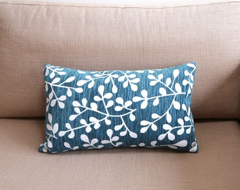Leaf pattern rectangle cushion cover, Throw cushion cover, Scatter cushion cover, Throw pillow cover, Decorative pillow cover