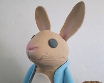peter rabbit bunny cake topper basket carrots sugar edible