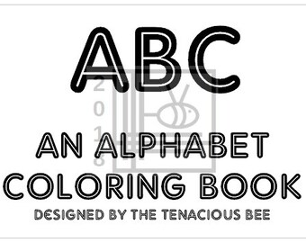 dyi download ALPHABET COLORING BOOK