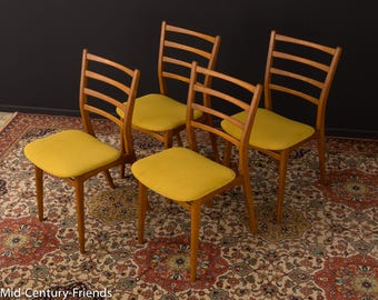 60s dining chair, chair, 50s, vintage, mustard (702001)