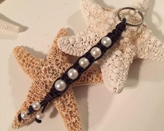 Freshwater pearl key chain