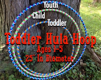 "Custom Toddler Hula Hoop / 25"" In Diameter / Ages 1-5"