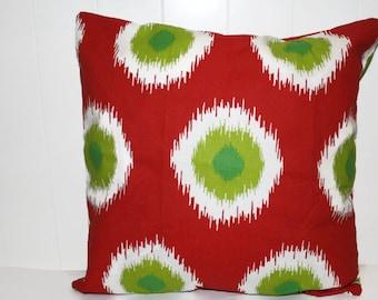Christmas Fun Dots Ikat Premier Prints  Pillow Covers 12x16, 16x16, 18x18
