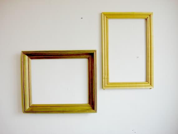 Gold Frame Old wooden picture frames / Large Frame Art Frames shabby ...