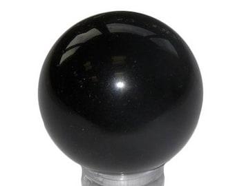 Sphere 30mm black Obsidian