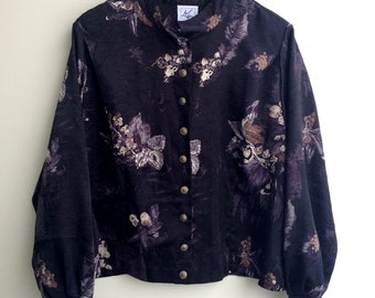 Late 1980s Early 1990s Oriental Style Blouse Made In Finland