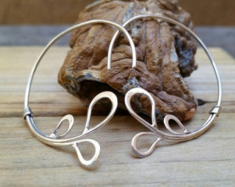 Sterling Silver Curled Hoop Bali Earring With Wire Teardrops, Teardrop Earrings, Sterling Silver Hoop Earrings, Bali Silver, Teardrop Hoops