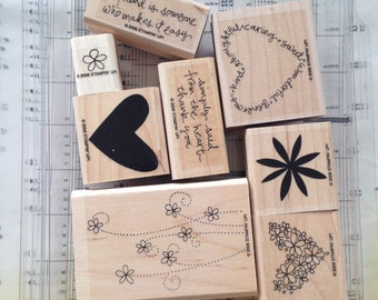 Simply Said - Stampin Up Stamp Set, Sentiments, Hearts, Floral, Card Making, Stationary, Pen Pals