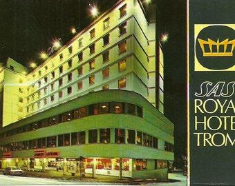Vintage 1990s Postcard Sas Royal Hotel Tromso Finland Radisson Blu Hotel Advertising Photo Card Photochrome Era Postally Unused