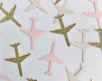 Airplane Confetti, Honeymoon Confetti, Moving Away Party Decor, Invitation Confetti, Going Away Party, Pilot Decor, Pilot Party, Confetti