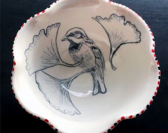 Wheel Thrown Pottery, Hand Painted Bowl, handmade pottery, ceramic bowl, pottery handmade, porcelain bowl, hand painted bowl, hand thrown