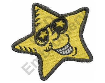Super Star - Machine Embroidery Design, Star