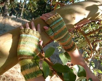Handknitted fingerless gloves, Size M