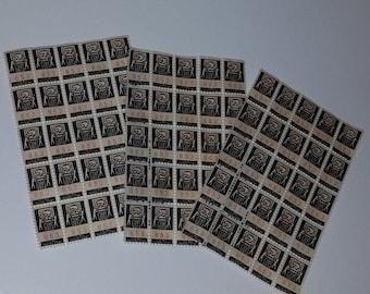 Vintage paper supplies ephemera 2 guys savings trading stamps 75  3 sheet scrapbook mixed media art