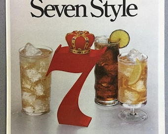 1979 Seagram's 7 Crown Whiskey Print Ad - Summer Seven Style  - Vintage Alcohol Ad