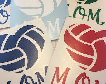 Volleyball Mom Permanent Vinyl Decal - Listing is for single decal