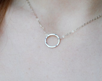 Karma necklace, medium silver karma necklace, eternity necklace, sterling silver necklace, dainty, simple jewelry