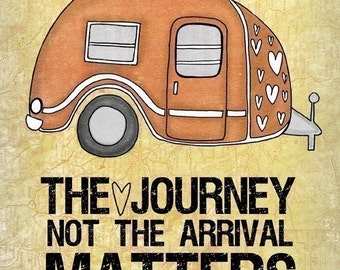 The Journey- Choose your color- Beautifully textured cotton canvas art print. Order as an 8x10 11x14 or 16x20 size.