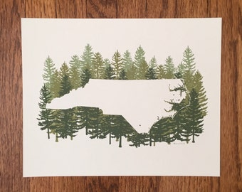 North Carolina State Print - Pine