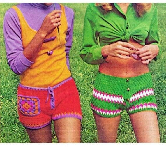 Crochet Pattern Crochet Shorts Pdf Pattern Hippie Retro