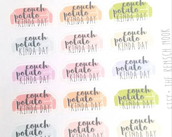 SALE! Couch potato kinda day planner stickers planner stickers  Erin Condren  Happy Planner  lazy day  relax  Christmas Gift