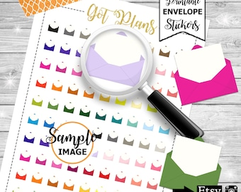 Envelope Stickers, Printable Planner Stickers, Planner Decor, Item Stickers, Printable Stickers, Stickers For Planners