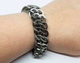 GSG Stainless Steel Chunky Chainmaille Bracelet Unisex