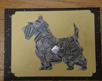 Yorkie - Terrier Dog Iris Folded Card