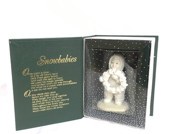 """Snow babies department 56 """"I made this just for you"""" porcelain figures"""