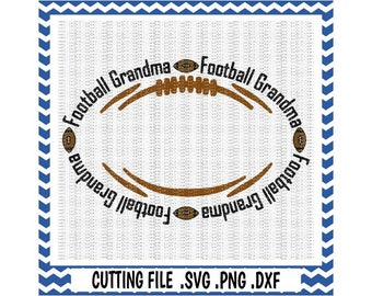 Football Grandma Cutting Files, Football Monogram Svg-Dxf-Png-Pdf, Cut Files For Silhouette Cameo & Cricut, Svg Download.