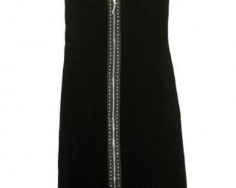 Versus Versace vintage Stone & studded velvet dress