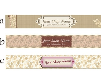 ETSY shop banner (No. 11)