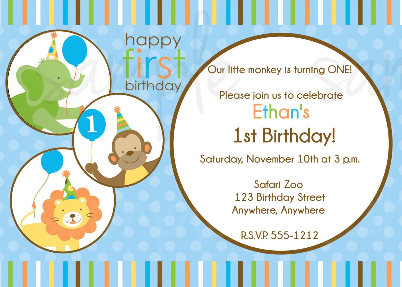 Sweet Safari Birthday Invitation Safari Jungle Baby Shower