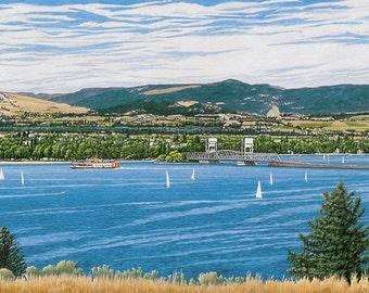 """20% OFF - Historical Okanagan Print - """"Okanagan Summer"""" - Limited Edition Watercolor Print - Free Shipping to US and Canada"""