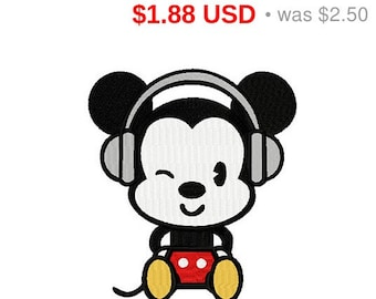 Mickey Mouse embroidery design / embroidery designs / INSTANT download machine embroidery pattern