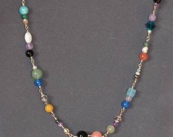 Beautiful Multicolored Wireworked Necklace