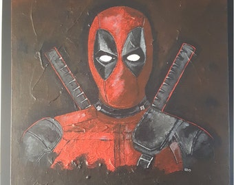 "Deadpool Fan Art Acrylic 16x20"" Original"