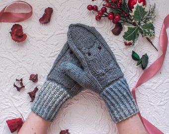 Women mittens with owls || Owls mittens