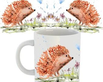 Hedgehog mug, hedgehog gift, hedgehog, ceramic mug, hedgehog ceramic mug, animal mug, country kitchen, wildlife