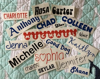 SINGLE Name Vinyl Decal up to 10 characters | Name Sticker | Tumbler/Mug/Cup Vinyl Sticker | Custom Vinyl Decal | Personalized Vinyl Decal