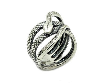 Snake Ring Sterling Silver 925 SKU211760