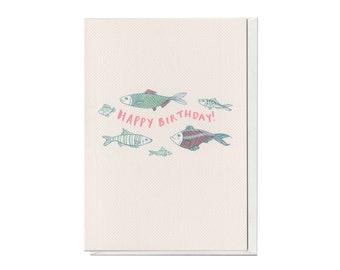 Birthday Fish, A6 Birthday Card