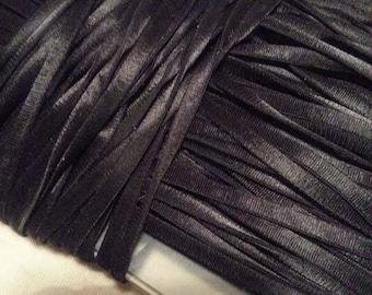 elastic straps for 0.5 mm black satin