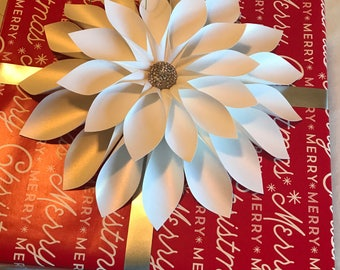 Paper flower gift bows (set of 4)